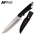 Mtech 6.25'' Full Tang Satin Tanto Blade With Nylon Sheath