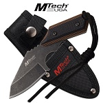 Mtech USA Boot Knife Full Tang Fixed Blade Knife with Sheath