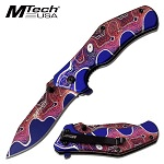 Mtech Spring Assist EDC Pocket Knife Pink/Purple
