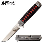 Mtech Silver Devil Spring Assisted Opening Pocket Knife