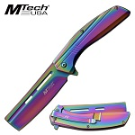 Pocket Knife Rainbow Spring Assisted Knife Razor Blade