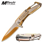 Pocket Knife by Mtech USA Assisted Opening Knife Gold