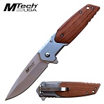 Mtech Pocket Knife 8.25 Inch Spring Assisted Knife Pakkawood