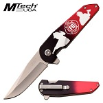 Mtech Firefighter Spring Assisted Pocket Knife