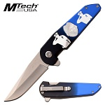 Mtech Police Department Spring Assisted Pocket Knife