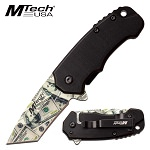 Mtech Pocket Knife Dollar Blade Spring Assisted Knife