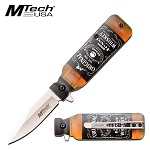 Pocket Knife Original Whiskey Bottle Design Spring Assisted Knife