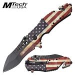 Mtech Spring Assisted Knife Tactical Knife USA Flag