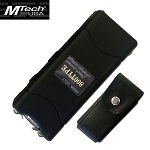 Mtech 3.5 Million Volt Rechargeable Stun Gun with LED Black