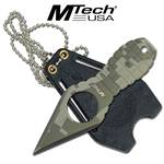 4.25 Inch Overall MTech Grenade handle Neck Knife - Digital Camo