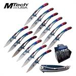 Mtech USA The Zodiac Sign Folding Pocket Knives 12 Pieces