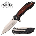 Best EDC Knife Spring Assisted Knife Brown Pakkawood