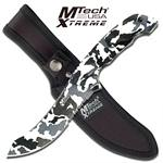 Full Tang Urban Camo Fixed Blade Mtech Hunting Knife with Camo Wood Handle