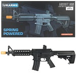 P2207 Quad RIS M4 Spring Airsoft Rifle FPS 233 With .20G BBs