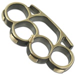 Iron Fist Knuckleduster Paperweight Buckle Champaign