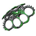 Green Dragon Zinc Aluminum Knuckle Buckle & Paperweight