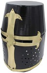 Decorative Barrel Helm Crusader Knights Helmet With Stand