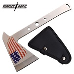 Tomahawk Throwing Axe 9.5 inch Stainless Steel USA Flag Axe Head