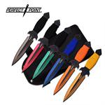 Perfect Point 6.5 Inches 6pc Thrower Assorted Color with Steel Handle