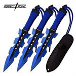 Perfect Point 3 Piece Throwing Knife Set 2 Tone Blade Blue Black