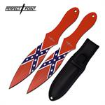 Confederate Flag 8 Inch 2 Piece Throwing Knives