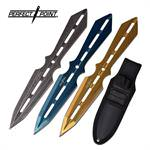 Throwing Knife Colors 3 Piece Set With Sheath