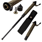 26 Inch Tactical Expandable Baton Paracord Wrapped Skull Breaker Handle
