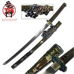 Ryumon 41 Inch Hand Forged Damascus Steel Blade Samurai Sword