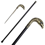 36.5 Inches Brass Finish Eagle Head Luxury Cane Sword