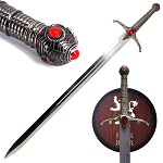 Prince Medieval King's Sword with Wall Plaque