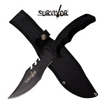 Survivor 11 inch Bowie Knife With Saw Back Blade