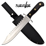 Survival Knife 16 Inch Big Bad Bowie Knife Black Pakkawood Handle