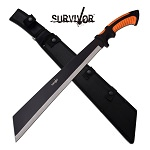 Massive 24 inch Survivor Machete Knife Tanto Blade With Sheath