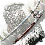 Royal Jin Tachi Carbon Steel Blade Sword - Maroon Finish