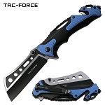 Tac Force Tactical Knives Pocket Knife Spring Assisted Knife Black Blue
