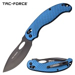 Tac Force 8.5 Inch Manual Folding Knife Blue Handle Pocket Knife