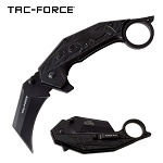 Jaguar Claw Karambit Style Spring Assist Knife Black