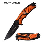 Emergency Medical Tech Spring Assisted Folding Pocket Knife Orange EMT