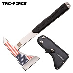 USA Flag Tactical Tomahawk Axe Full Tang Hatchet Black Handle