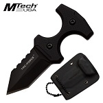 Tac Force 3.8 Inch Push Dagger Neck Knife Black