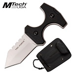 Tac Force 3.8 Inch Push Dagger Neck Knife Silver