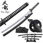 Tenryu Handforged Samurai Sword 3 Pc Set With Fake Ray Handle