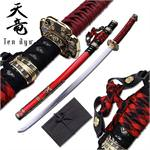 Tenryu Oriental Sword 41 Inches With Red Cord Wrap Handle