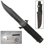 Mini Hunter Paracord Outdoor Survival Clip Point Partially Serrated Blade Knife