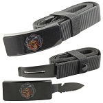 Fire Dept. Ride Free Adjustable Nylon Covert Belt Knife Hidden Blade