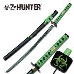 Z Hunter Samurai Sword 41 Inches With Green Cord Wrapped Handle