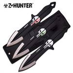 Punisher Skulls 3 Piece Throwing Knife Set With Sheath