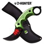 Z-Hunter Fixed Blade Knife 9.25 Inches Overall With Green Handle