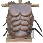 Medieval Roman Greek Muscle Body Armor Copper Antique