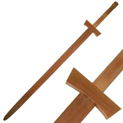 "48"" Two Handed Wood Training Long Sword"